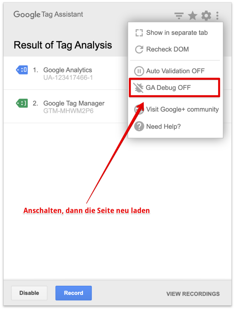 Google Tag Assistant Plugin Chrome, tracking, tag manager